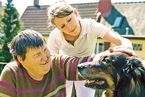 Carer for disabled person